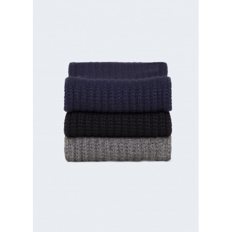CHUNKY HUG - luxury cashmere rib scarf